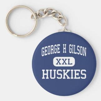 George H Gilson - perros esquimales - joven - Vald Llavero Redondo Tipo Pin