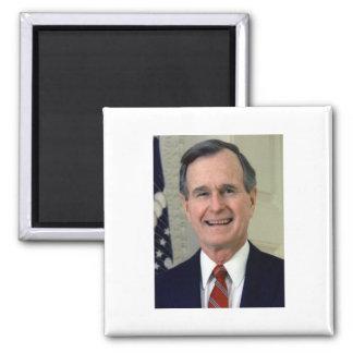 George H. W. Bush 41 2 Inch Square Magnet