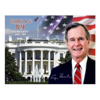 George H.W. Bush - 41.o presidente de los E.E.U.U. Postal