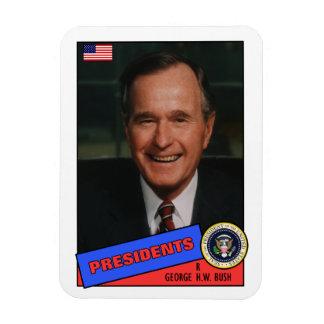 George H.W. Bush Baseball Card Rectangular Photo Magnet