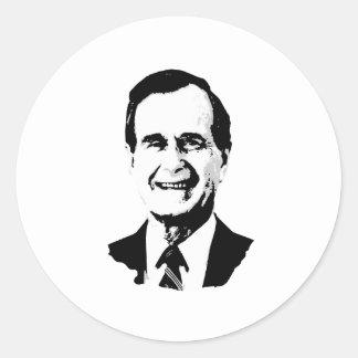 George H.W. Bush Gear Classic Round Sticker