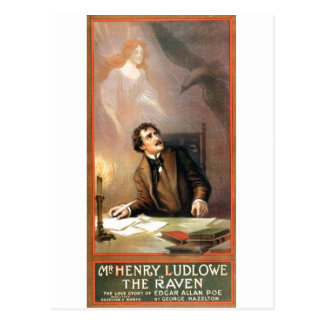 George Hazelton's The Raven (Edgar Allan Poe) 1908 Postcards