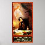 George Hazelton's The Raven Edgar Allan Poe  1908 Poster