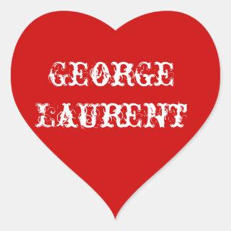 George Heart Sticker Red