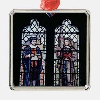 George Herbert and Nicholas Ferrar Metal Ornament