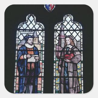 George Herbert and Nicholas Ferrar Square Sticker