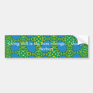 George Herbert Quote With Wonderful Design Car Bumper Sticker