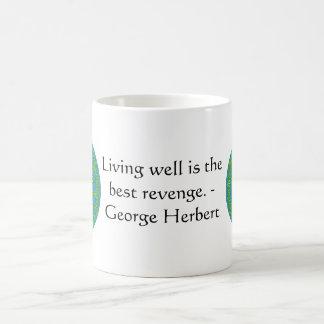 George Herbert Quote With Wonderful Design Classic White Coffee Mug