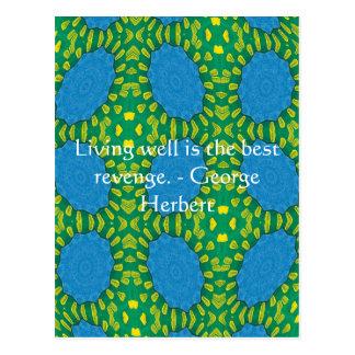 George Herbert Quote With Wonderful Design Postcard
