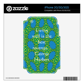 George Herbert Quote With Wonderful Design Skin For The iPhone 3