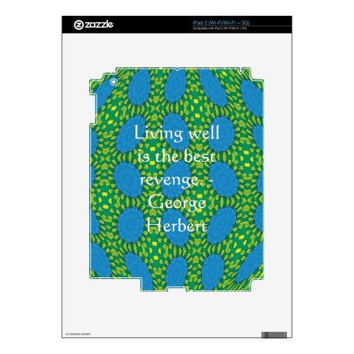 George Herbert Quote With Wonderful Design Skins For iPad 2