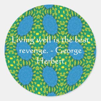 George Herbert Quote With Wonderful Design Classic Round Sticker