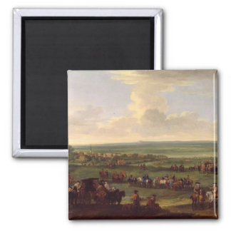 George I (1660-1727) at Newmarket, 4th/5th October 2 Inch Square Magnet
