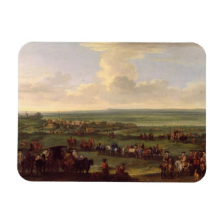 George I (1660-1727) at Newmarket, 4th/5th October Rectangular Photo Magnet