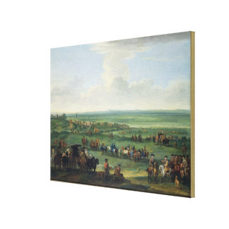 George I (1660-1727) at Newmarket, 4th or 5th Octo Canvas Print