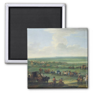 George I (1660-1727) at Newmarket, 4th or 5th Octo 2 Inch Square Magnet