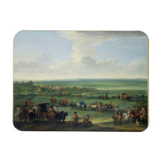 George I (1660-1727) at Newmarket, 4th or 5th Octo Rectangular Photo Magnet