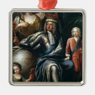 George I and his grandson, Prince Frederick Metal Ornament