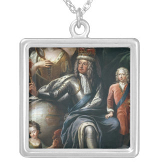 George I and his grandson, Prince Frederick Silver Plated Necklace
