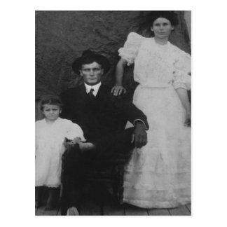 George, Ida, and little Zorah Langley Post Card