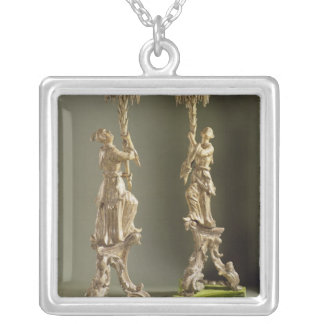 George II chinoiserie torcheres, c.1750 Silver Plated Necklace