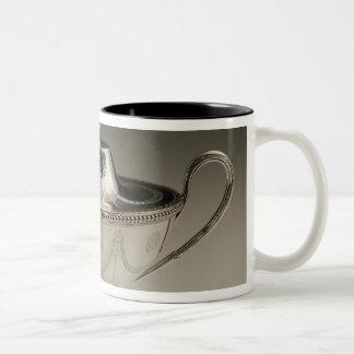 George III sauce tureen and cover Two-Tone Coffee Mug