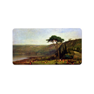 George Inness - Albanersee Personalized Address Label
