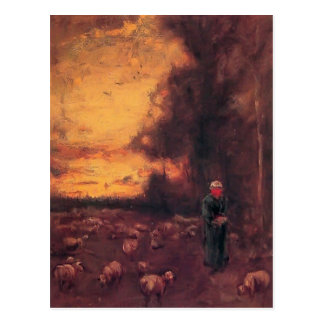 George Inness: End of Day Postcard