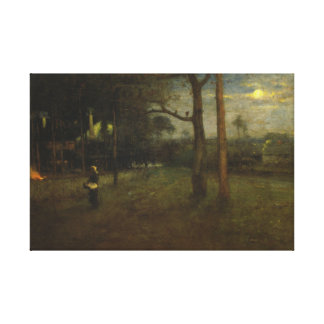 George Inness - Moonlight, Tarpon Springs Canvas Print