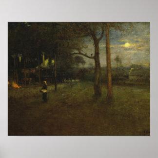 George Inness - Moonlight, Tarpon Springs Poster