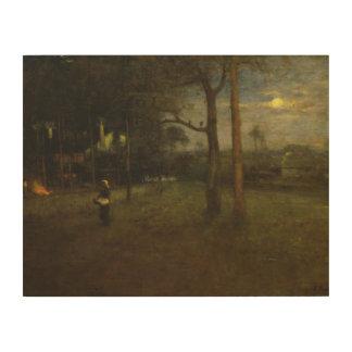 George Inness - Moonlight, Tarpon Springs Wood Print