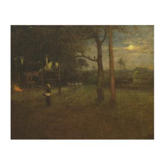 George Inness - Moonlight, Tarpon Springs Wood Wall Art