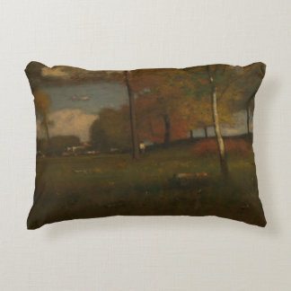 George Inness - Near the Village, October Accent Pillow