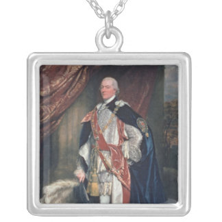 George John Spencer Square Pendant Necklace