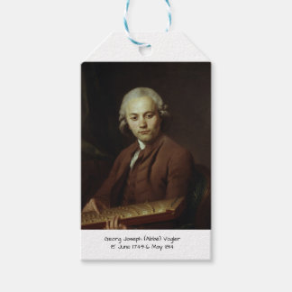 George Joseph (Abbe) Vogler Gift Tags