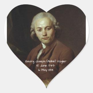 George Joseph (Abbe) Vogler Heart Sticker