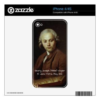 George Joseph (Abbe) Vogler iPhone 4S Decal