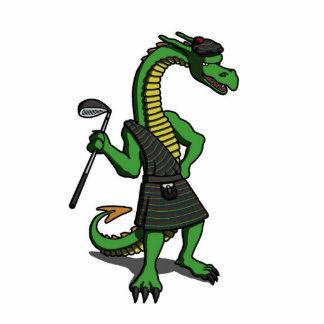 George la escultura de Scotish del dragón Fotoescultura Vertical