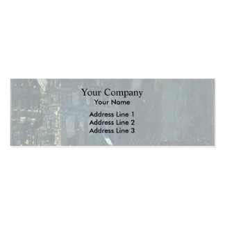 George Luks- Blue Devils on Fifth Avenue Double-Sided Mini Business Cards (Pack Of 20)