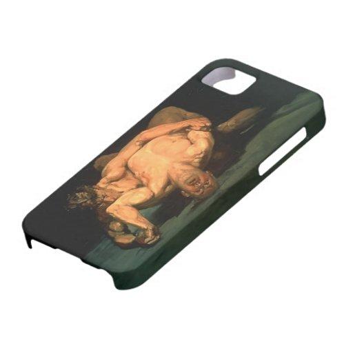 George Luks- los luchadores iPhone 5 Case-Mate Cárcasa