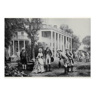 George & Martha, Mount Vernon Invitation/Note Card