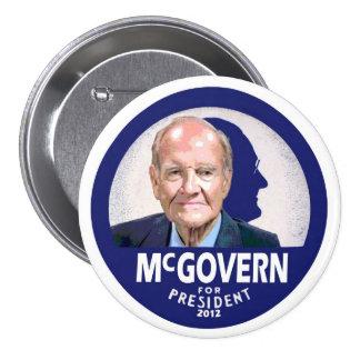 George McGovern para el presidente 2012 Pin