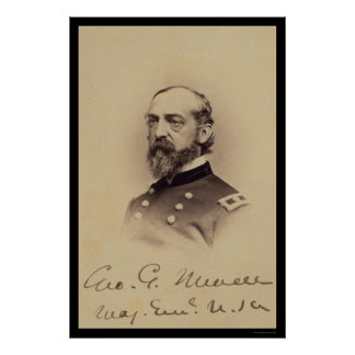 George Meade Signed Card 1862 Posters