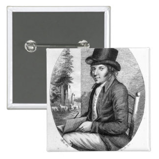George Morland, engraved by G.Scott, 1805 2 Inch Square Button