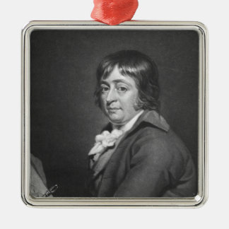 George Morland, engraved by William Ward, 1805 Square Metal Christmas Ornament