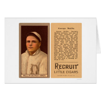 George Mullin Tigers Baseball 1912 Card