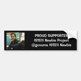 george newbie pic, PROUD SUPPORTERISTE11 Newbie... Bumper Sticker