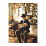 George Newell Bowers - Waiting for the Pharmacist Canvas Print