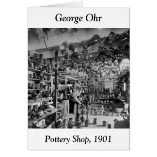 George Ohr Pottery Shop, 1901 Greeting Card