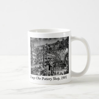 George Ohr Pottery Shop, 1901 Classic White Coffee Mug